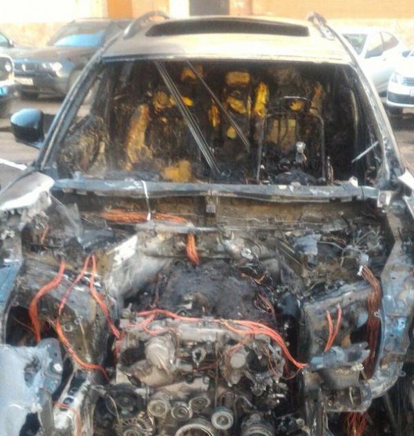 Photo of В Башкирии на улице сгорел элитный автомобиль