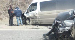 Под Уфой маршрутка с пассажирами попала в аварию