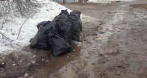 На улице Абхазской в Уфе в очередной раз убрали мусор