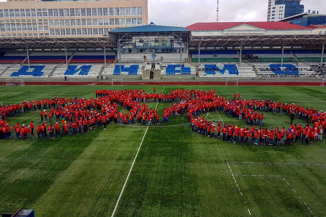 Уфа побила мировой рекорд, построив гигантский человекосипед