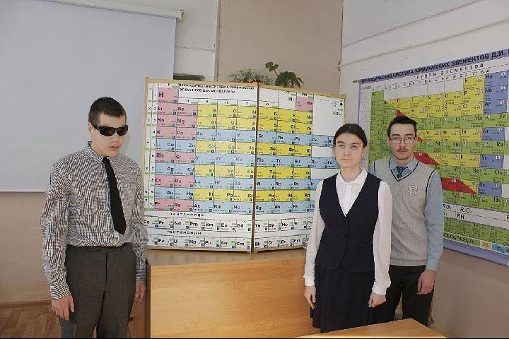 В Башкирии школьник придумал таблицу Менделеева для слабовидящих