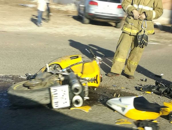 В Башкирии мотоцикл разорвало пополам после столкновения с Mercedes