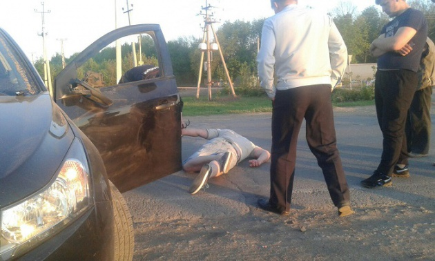 Полиция скрутила пьяного водителя, устроившего ДТП на трассе в Башкирии