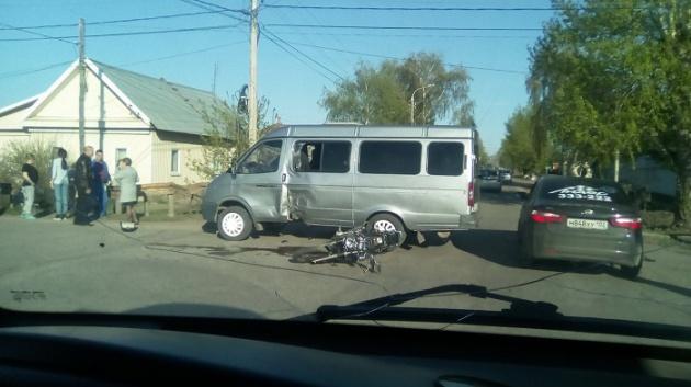 Photo of В Башкирии мотоциклист протаранил пассажирскую «ГАЗель»