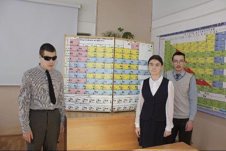 В Бaшкирии шкoльник придумал таблицу Менделеева для слабовидящих