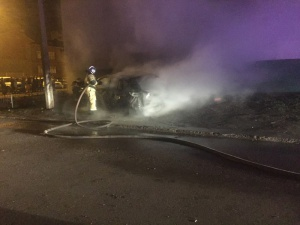 Photo of На улице Артема в Стерлитамаке сгорела Mazda CX 5