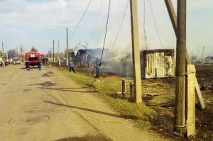В Башкирии пожарные ликвидировали открытое горение шести жилых домов - видео