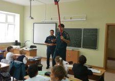 В новой школе Стерлитамака проверили автоматическую пожарную сигнализацию