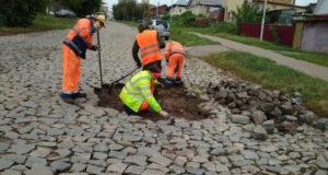 В Уфе ливень повредил булыжную кладку улицы Трактовой