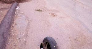 В Уфе автомобилисты предупреждают друг друга о провале асфальта на улице Мингажева