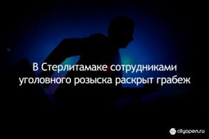 Photo of В Стерлитамаке сотрудниками уголовного розыска раскрыт грабеж