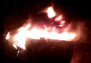 В Уфе рабочий погиб при пожаре в строительном вагончике