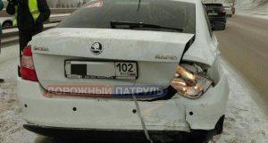 В Уфе в автомобильной аварии пострадал 2 х месячный младенец