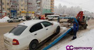 В Уфе ходе рейда по проверке соблюдения правил парковки эвакуированы 32 автомобиля