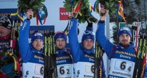 Уфимский биатлонист Антон Бабиков завоевал «бронзу» в эстафете этапа Кубка мира