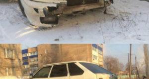 В Стерлитамаке на улице Сагитова легковушка наехала на три припаркованных автомобиля