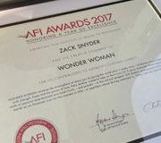 Зак Снайдер похвастался наградой за Чудо женщину