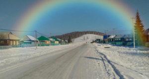 Фото: В небе над Башкирией появилась зимняя радуга