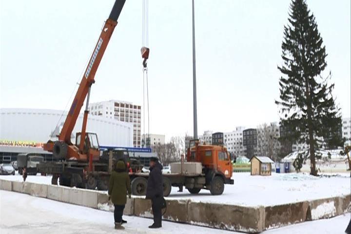 В Уфе убирают ледовые городки