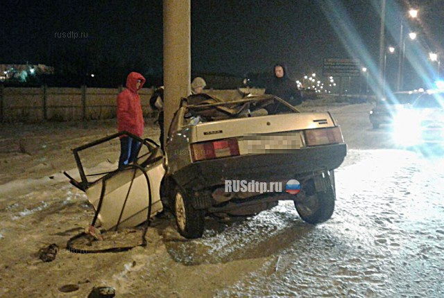 В Стерлитамаке мясник погиб, врезавшись на автомобиле в столб
