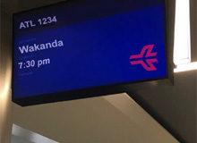 Аэропорт Атланты открыл авиасообщение с Вакандой