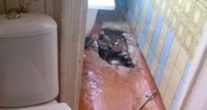 В Стерлитамаке в квартире провалился пол