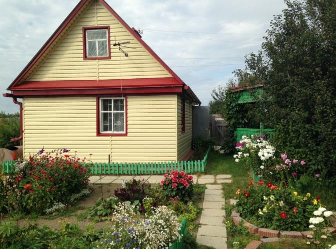 дом в огороде