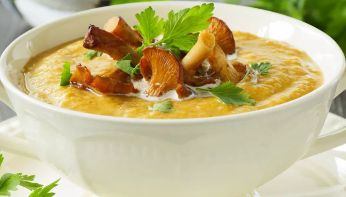 Суп пюре с шампиньонами