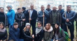 В Стерлитамаке в сквере Жукова посадили около сотни кедров