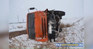В Янаульском районе «Рено» и КАМАЗ попали в аварию: погибла женщина