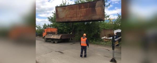 В Уфе сносят незаконные гаражи на улице Мубарякова0