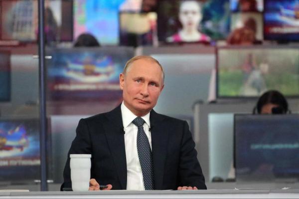 Прямая линия с Владимиром Путиным состоится 20 июня0