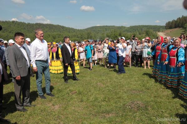 Радий Хабиров поздравил жителей Бурзянского района с праздником сабантуя0