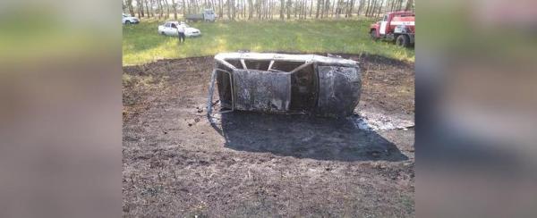 Photo of В Башкирии автомобиль съехал в кювет и загорелся: Пострадала 80-летняя пассажирка