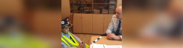 ГИБДД Стерлитамака провела беседу с юным инспектором, который патрулировал улицы0