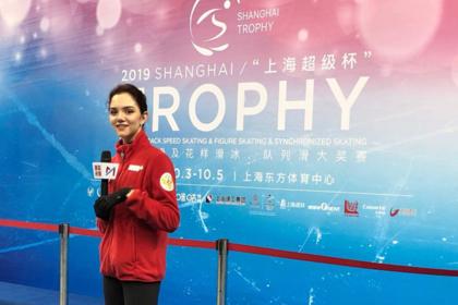 Медведева выиграла короткую программу турнира в Шанхае0