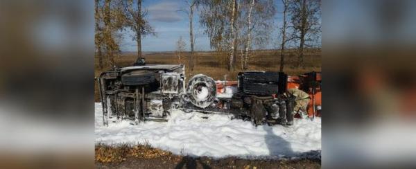 Photo of В Башкирии из-за попавшего в ДТП грузовика началась утечка нефтепродуктов
