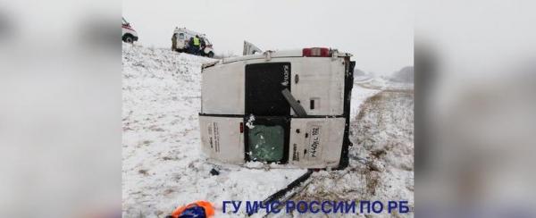 Photo of В Башкирии опрокинулся пассажирский автобус, есть пострадавшие