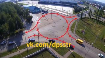 В Стерлитамаке появятся два перекрестка с круговым движением 0