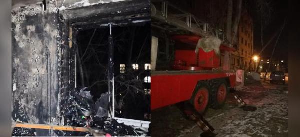 Photo of В Башкирии в горящем пятиэтажном здании погибла женщина